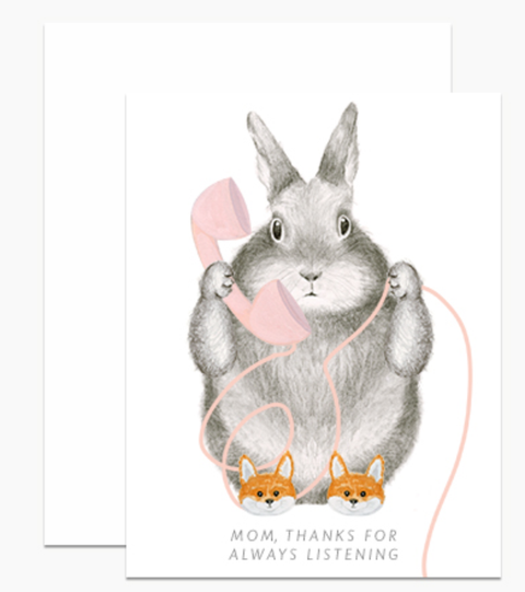 Dear Hancock - Thanks For Listening Bunny Card