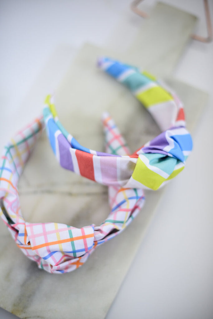The Tiny Tassel Rainbow Geometric Headband