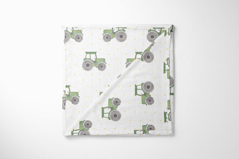 Organic Muslin Blanket - This is How My Tractor Rolls