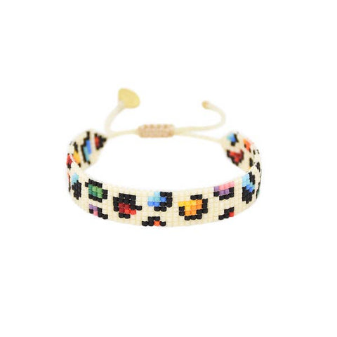Mishky- Beaded Bracelet- Rainbow Panthera