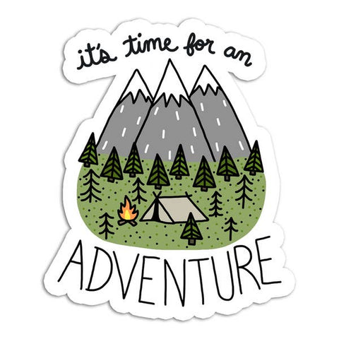 It's Time For An Adventure Vinyl Sticker