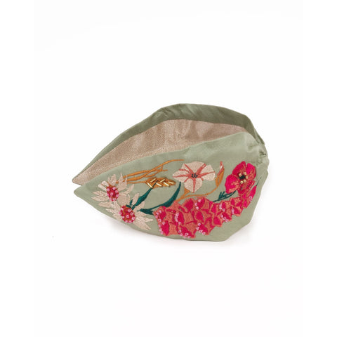Embroidered Floral Headband - Country Garden
