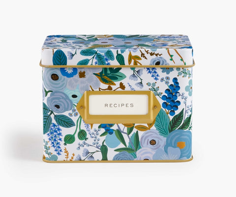 Rifle Paper Co. Recipe Box - Blue Garden Party