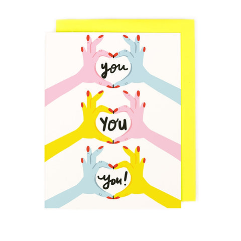 Love Love Love You Card
