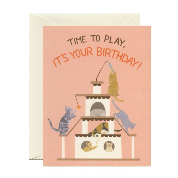 Playful Cats Birthday Card