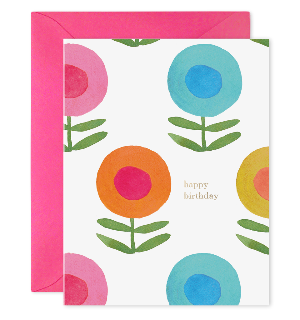 E. Frances Paper - Card - Happy Flowers