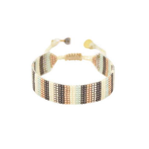 Copy of Mishky- Beaded Bracelet- Earth Tones Lineal
