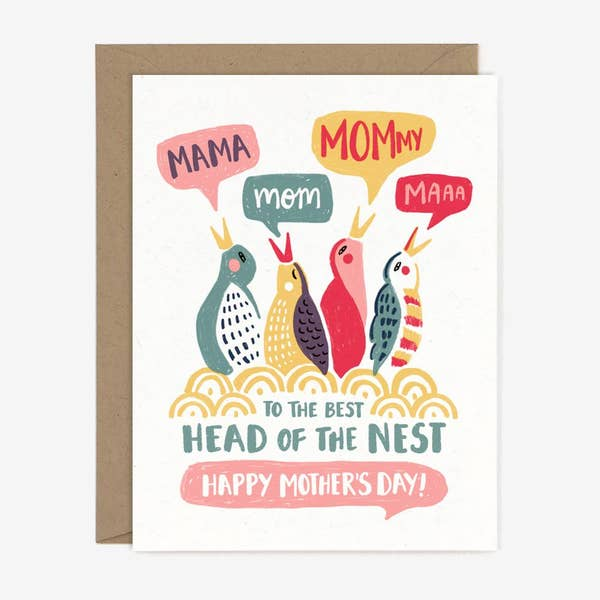 Head of Nest Mother's Day Card