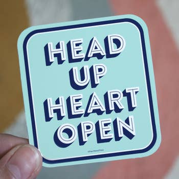 Head Up Heart Sticker