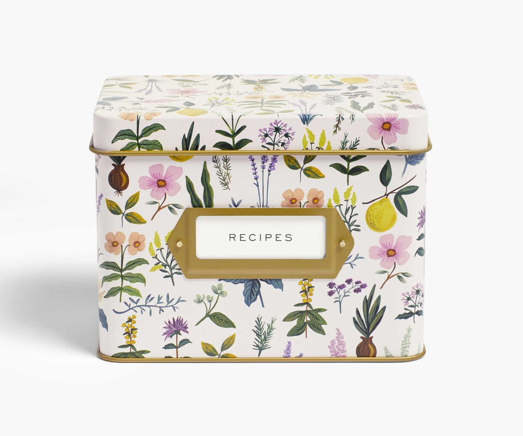 Rifle Paper Co. Recipe Box - Herb Garden Tin