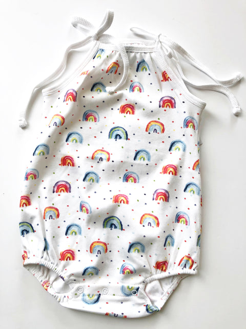 Shoulder Tie Onesie - Over The Rainbow