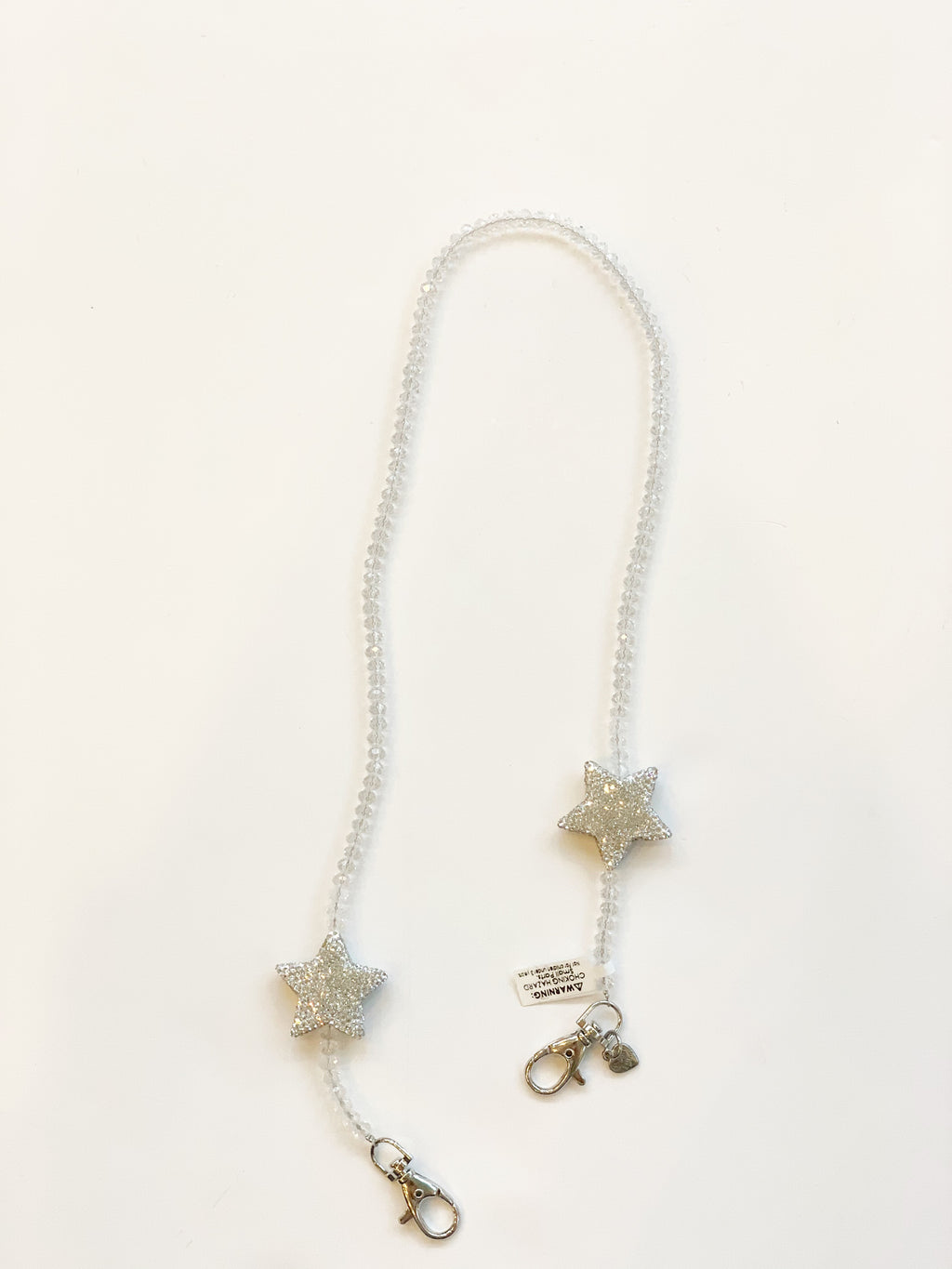 Mask Chain - White with Silver Star