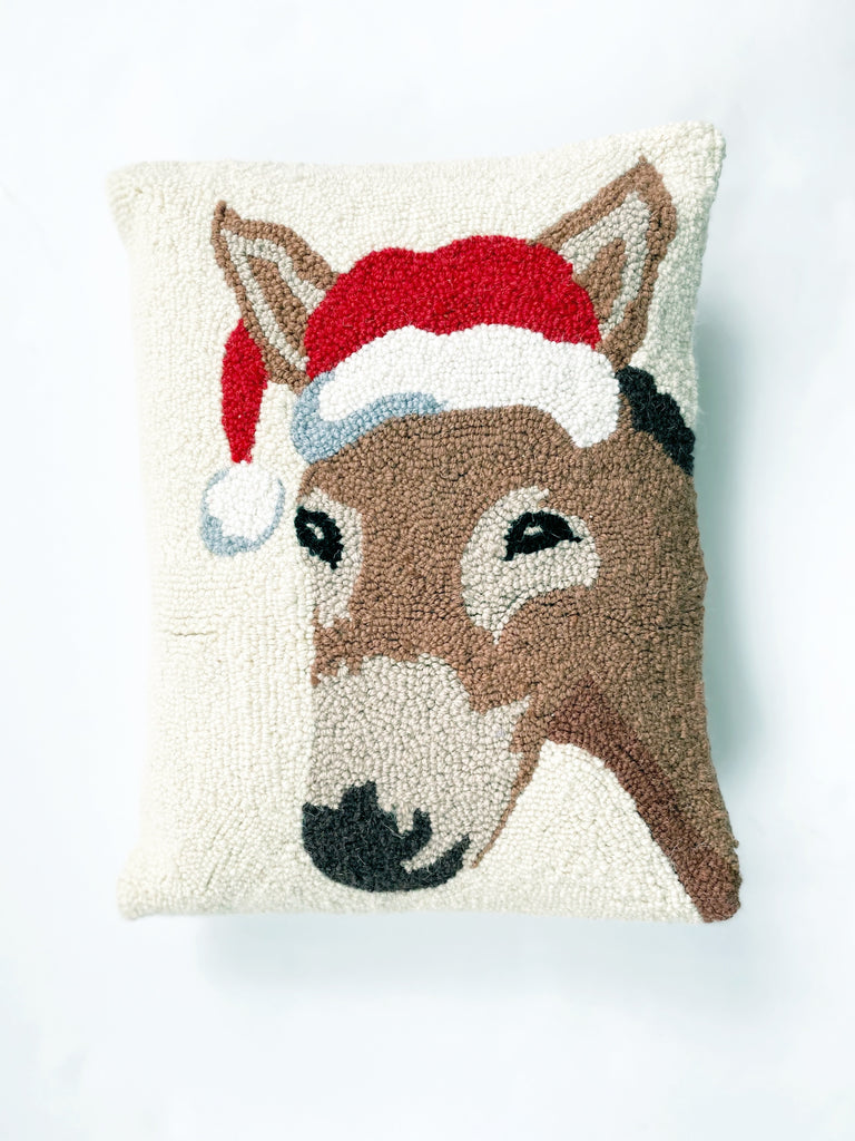 Muletide Santa Hook Pillow