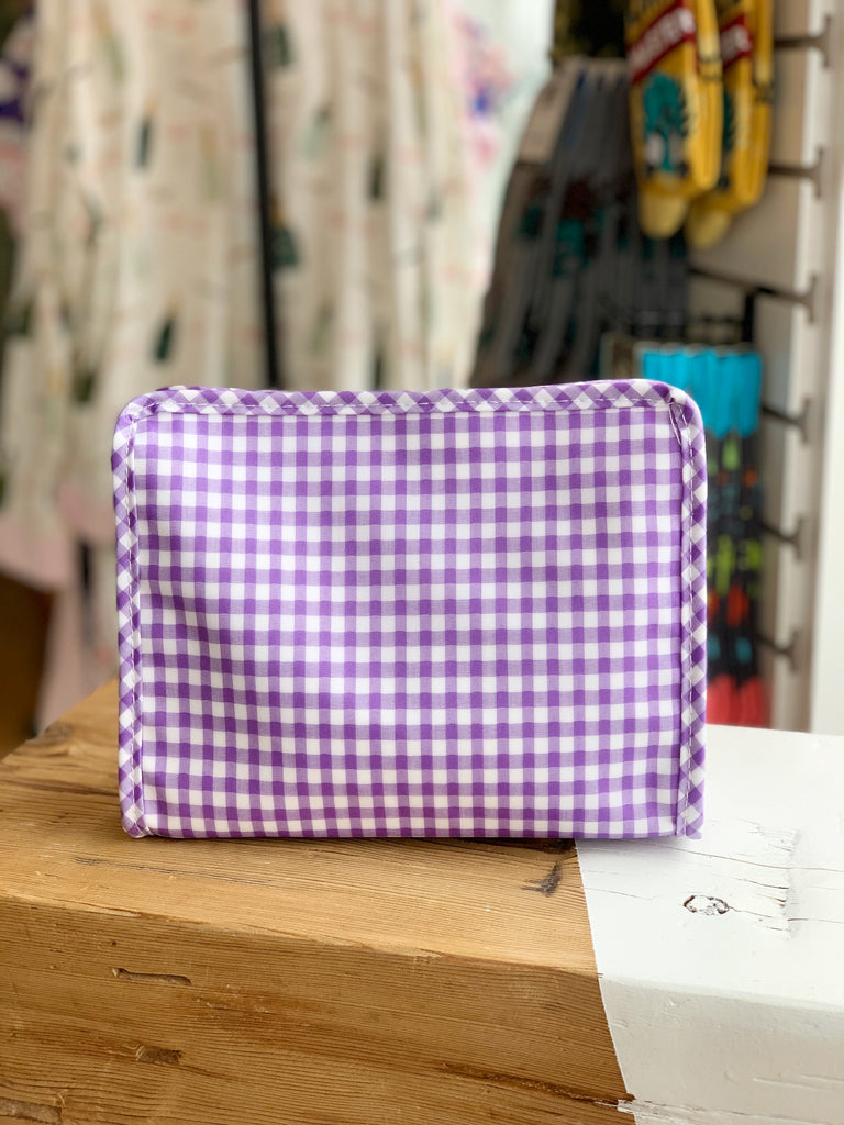 Roadie Medium - Lavender Gingham