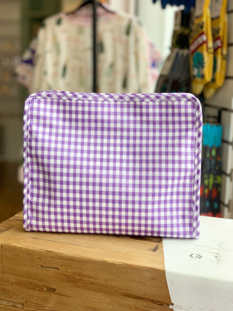 Roadie Large - Lavender Gingham