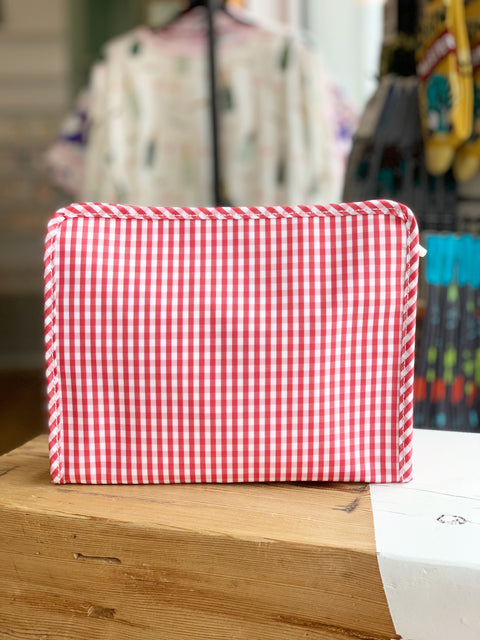 Roadie Large - Red Gingham
