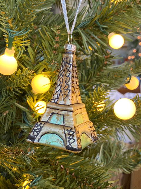 Ornament - Glass Eiffel Tower