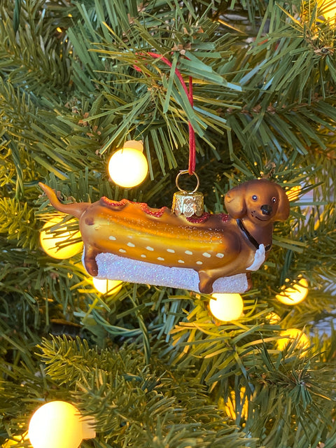 Ornament - Weiner Pup Hot Dog