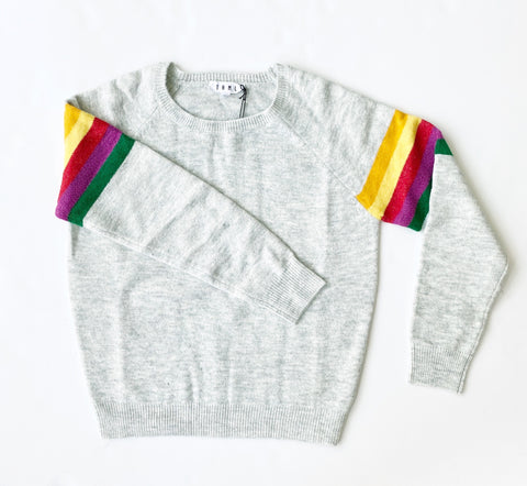 THML - Harding Striped Sleeve Sweater