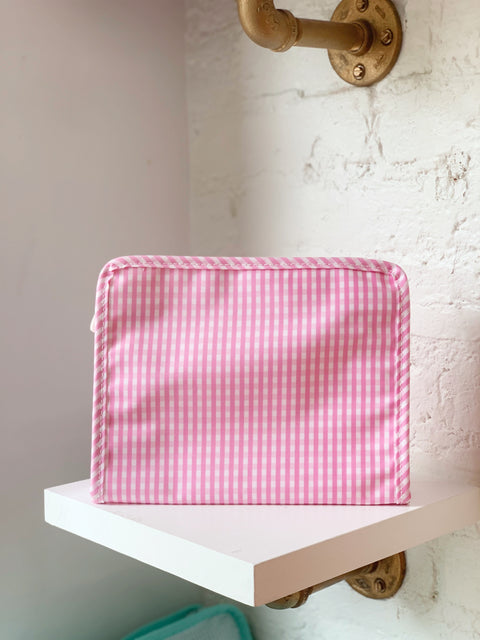 Roadie Medium - Pink Gingham