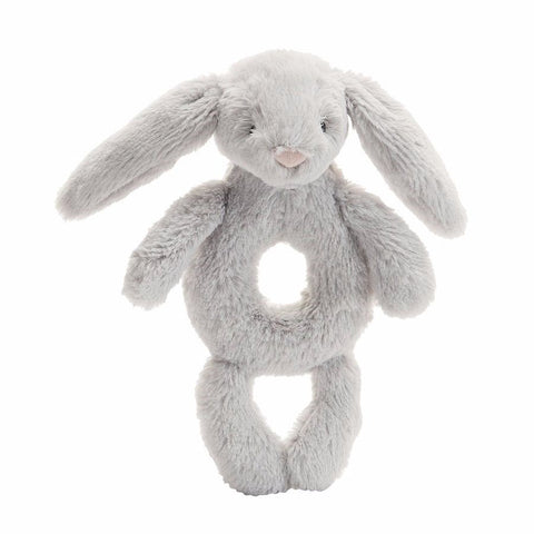 Jellycat Bashful Grey Bunny Rattle