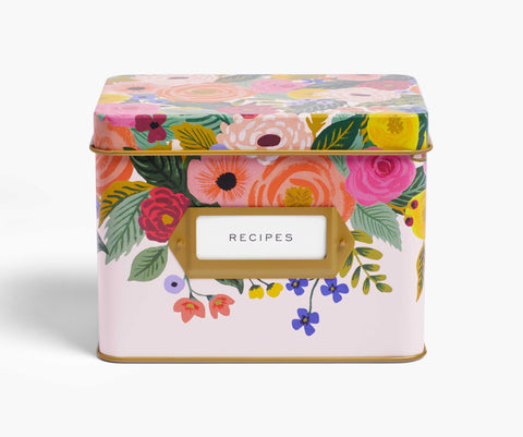 Rifle Paper Co. Recipe Box - Juliet Rose Tin