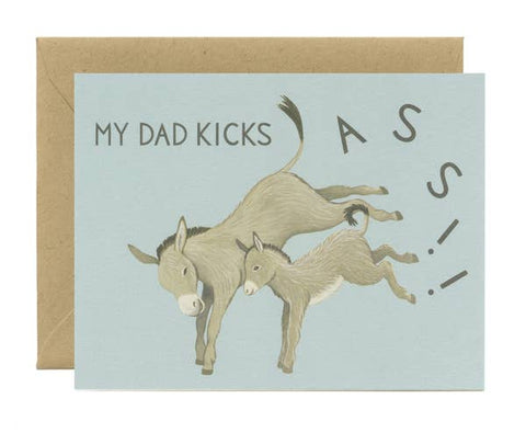 Kick Ass Dad Father's Day Card