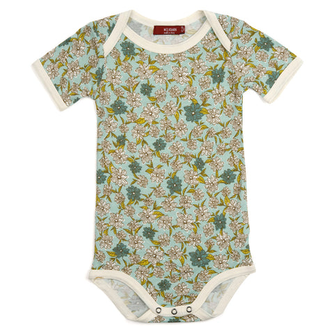 Milkbarn Organic One Piece - Blue Floral