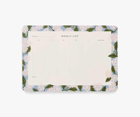 Rifle Paper Co. Weekly Desk Pad - Hydrangea