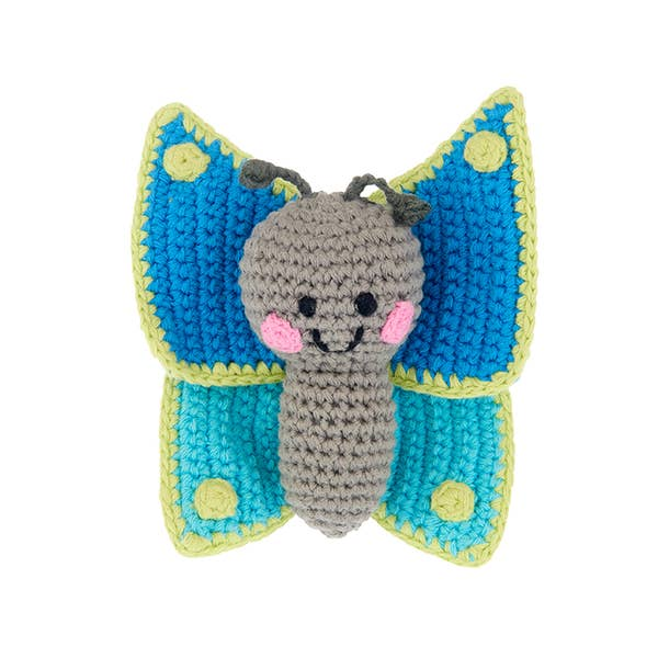 Pebble Friendly Butterfly Rattle
