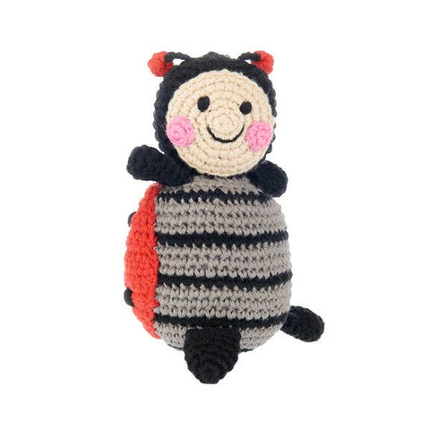 Pebble Friendly Lady Bug Rattle