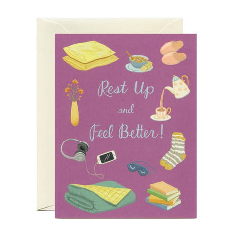 Rest Up Feel Better - Get Well Sympathy Card