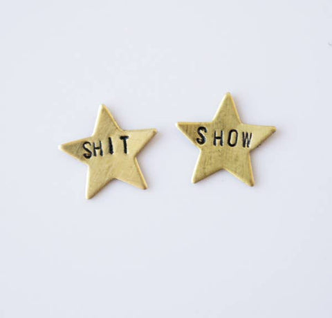 Grey Theory Mill - Shit Show Star Earrings