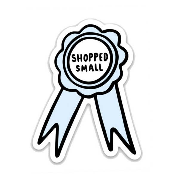 Shopped Small Ribbon Sticker