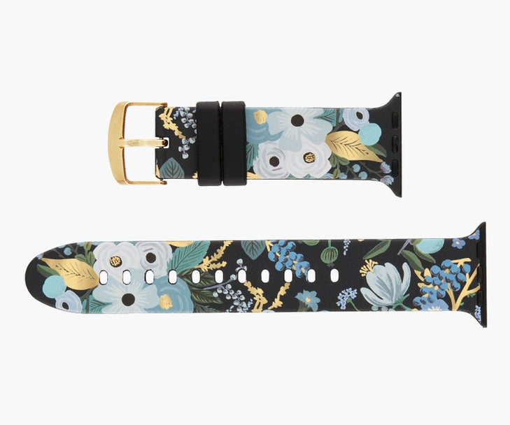 Rifle Paper Co. Apple Watch Bands - 42-44mm - Blue Garden Party