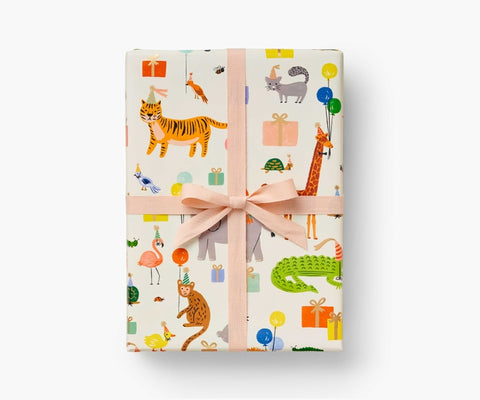 Rifle Paper Co. Continuous Wrapping Roll - Party Animals