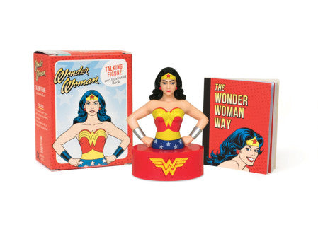 Wonder Woman Talking Figurine and Illustrated Book