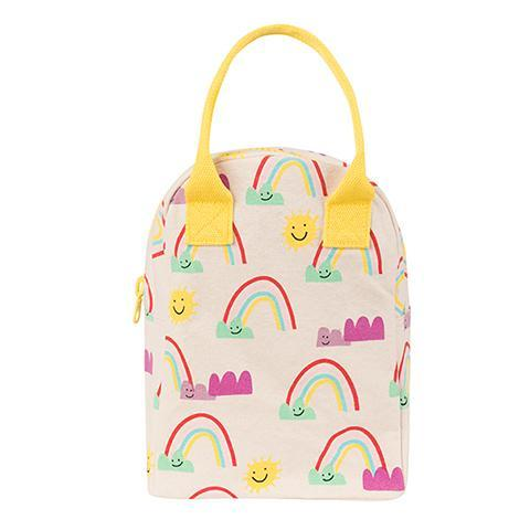 Fluf Zipper Lunch Bag - Rainbows