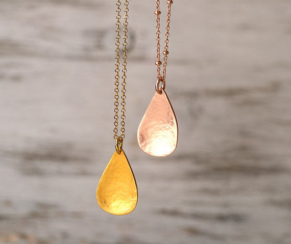 Coming soon...Hammered Teardrop Necklace