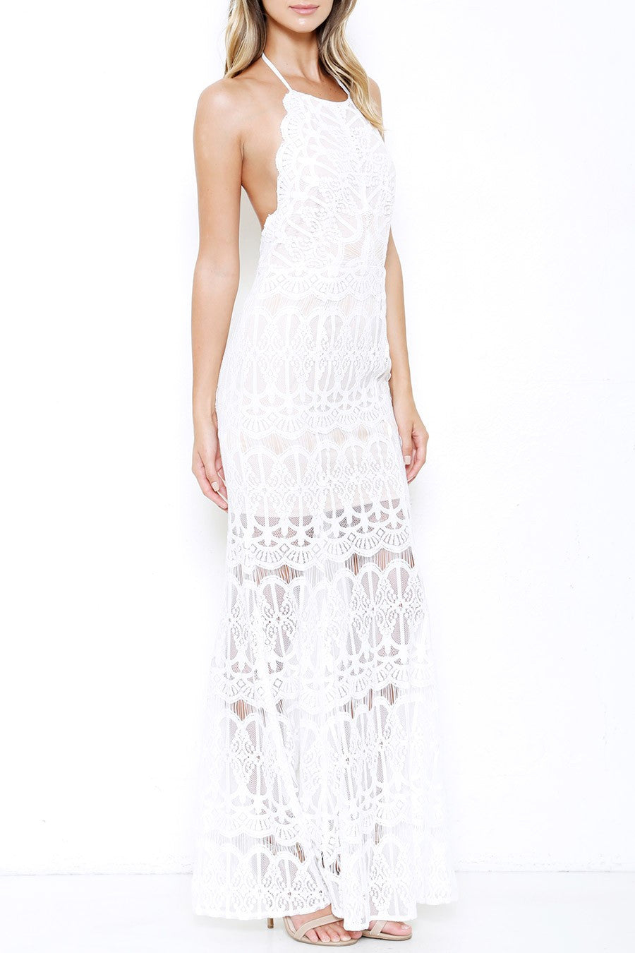 Halsey Lace Halter Dress