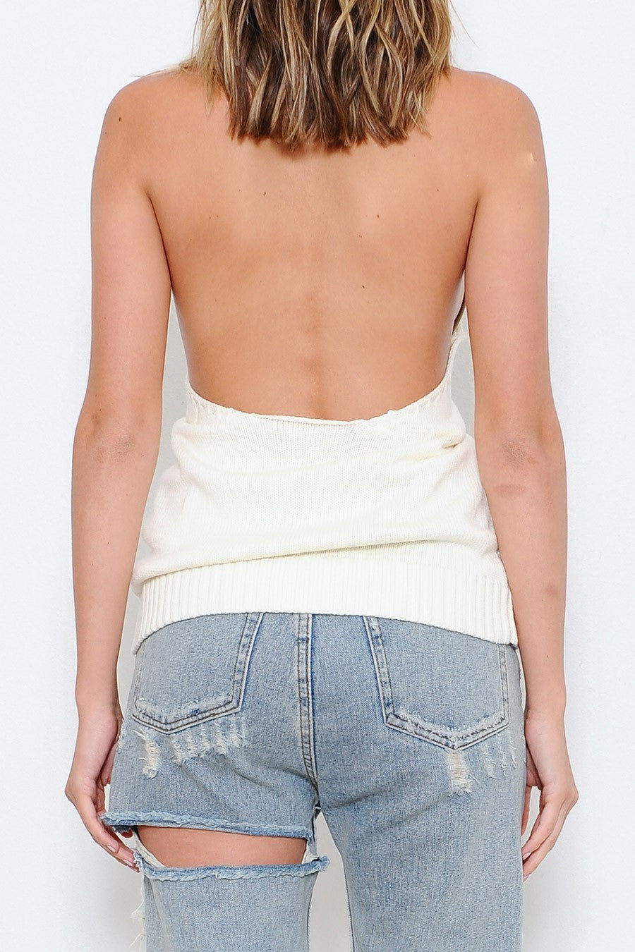 Jax Halter Knit Top