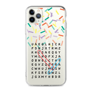 Custom - Word Search Clear Case (CMC952)