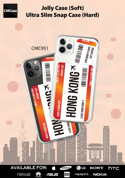 Custom - Travelholic Air Tickets Clear Case (CMC951)