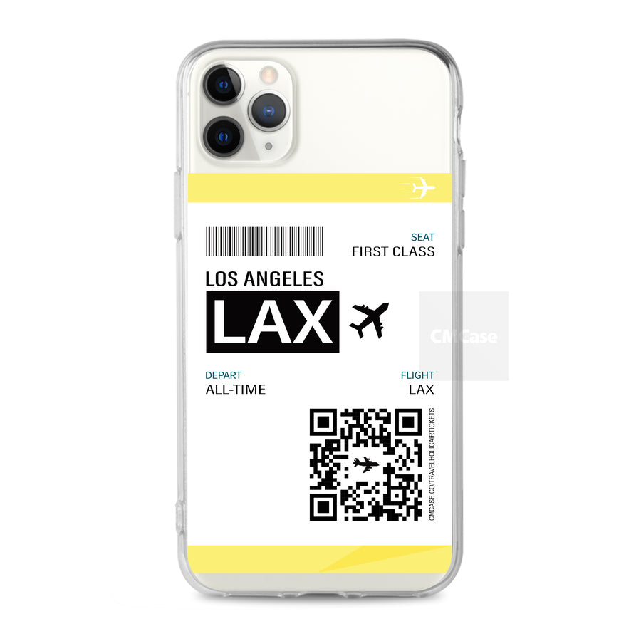 Custom - Travelholic Air Tickets Clear Case (CMC988)