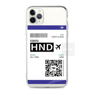 Custom - Travelholic Air Tickets Clear Case (CMC992)