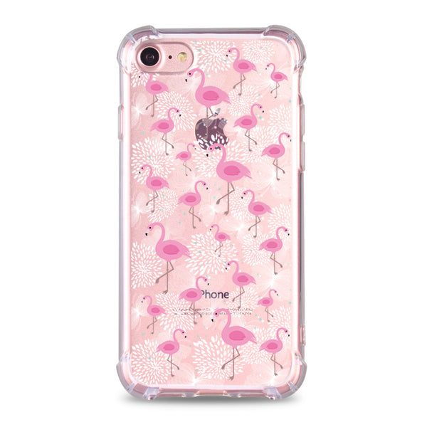 Flamingos Print Clear Case (DMC003)