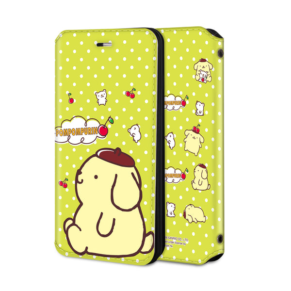 Pom Pom Purin Leather Flip Case (PNCM07)