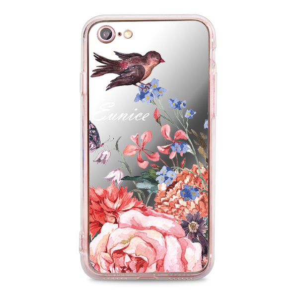 Custom - Floral Mirror Jelly Case (JC507)