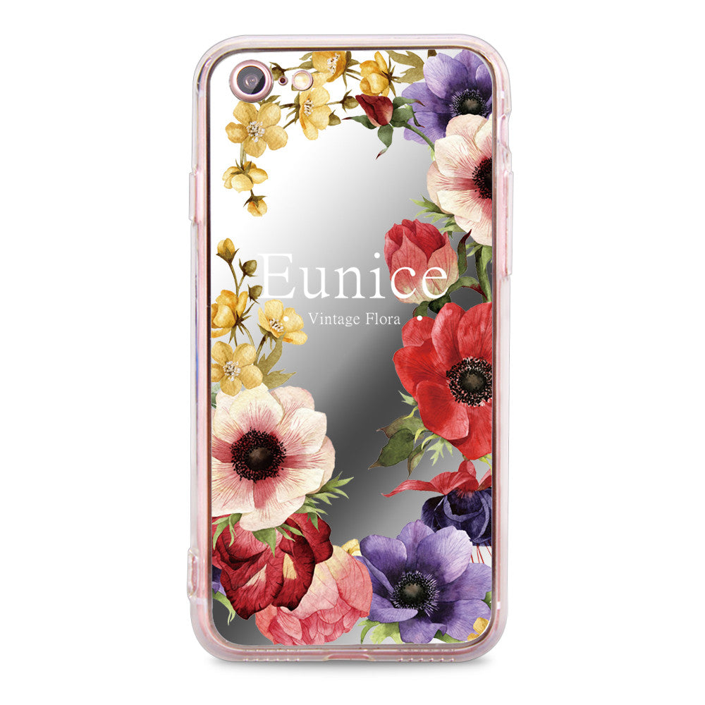 Custom - Floral Mirror Jelly Case (JC508)