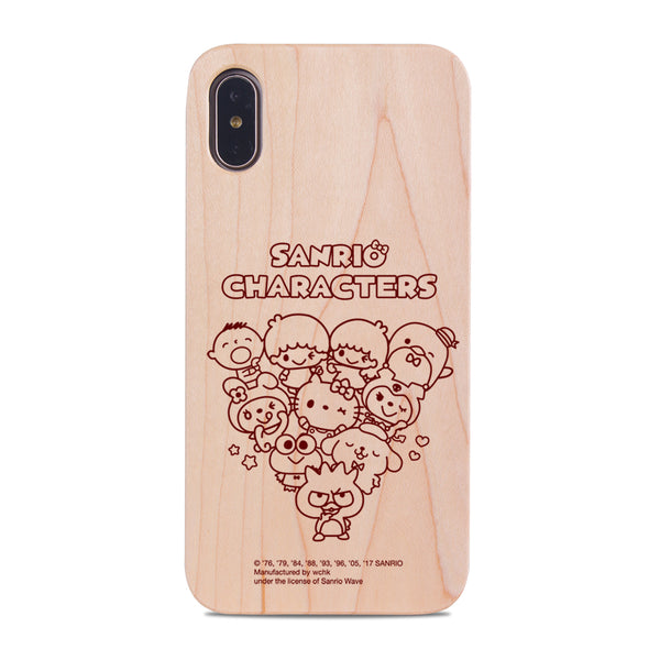 Sanrio Characters Wooden Case (MC89W)